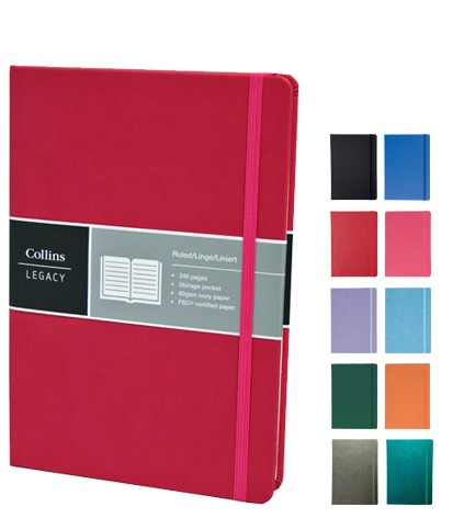 Collins Custom Notebooks available in a range of great colours from The Notebook Warehouse.