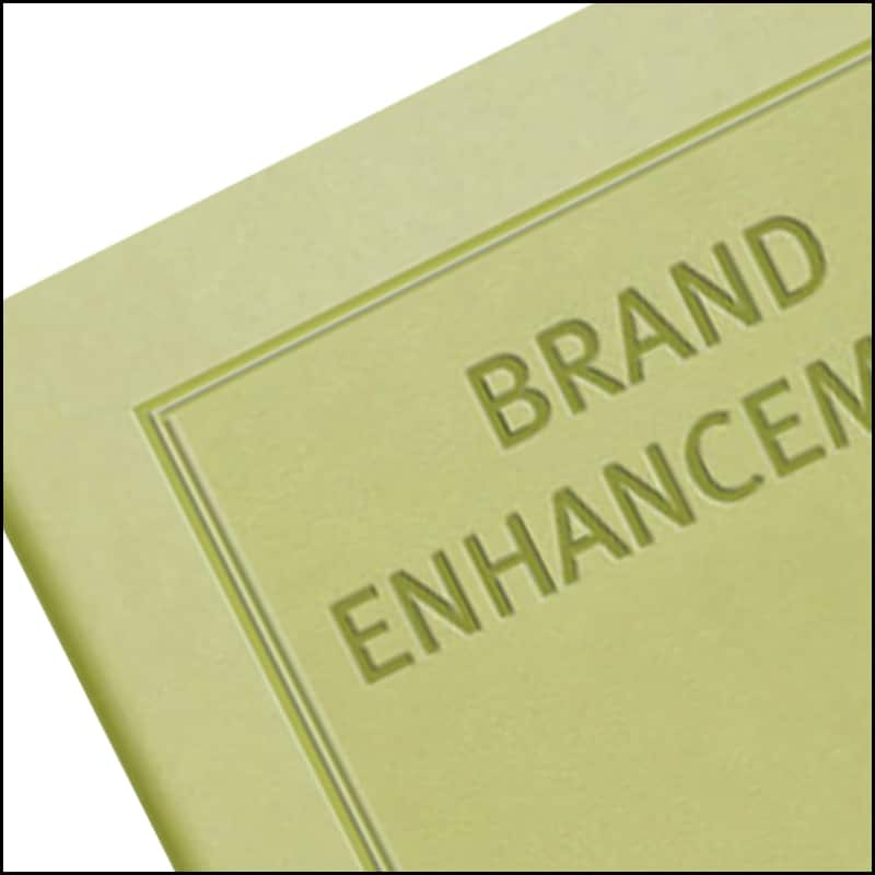 Image Showing Blind Embossing on a Company Branded Notebooks from The Notebook Warehouse
