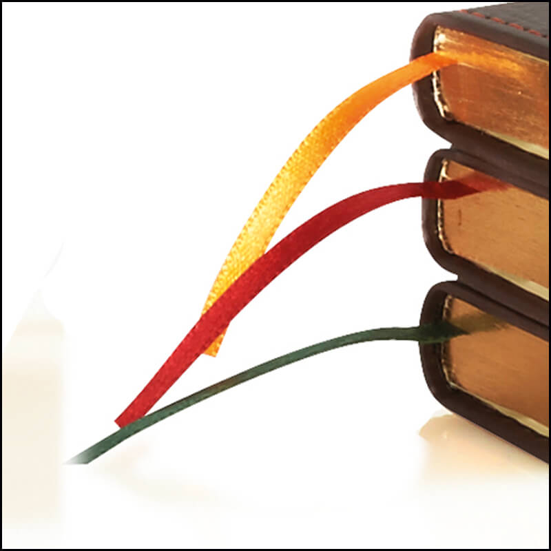 Image showing Corporate Branded Notebooks called Phoenix with coloured ribbon from The Notebook Warehouse