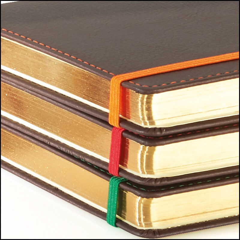 Corporate Branded Notebooks - Phoenix by The Notebook Warehouse. Gold Page Edges