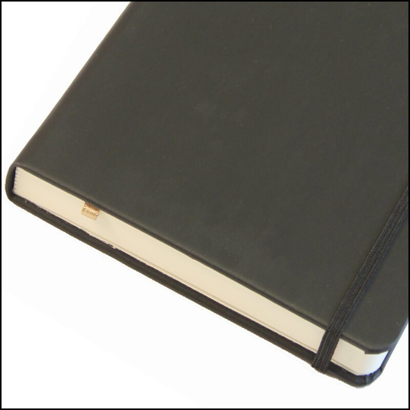 Coordinating Elastic Strap on Customised Moleskine Notebooks with Soft Cover available from The Notebook Warehouse