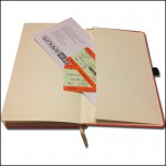Image showing Envelope Pocket in Tucson Ivory Corporate Diaries from The Notebook Warehouse.