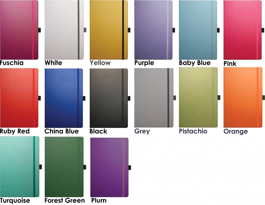 Image showing colours for Matra Custom Notebooks by Castelli from The Notebook Warehouse.