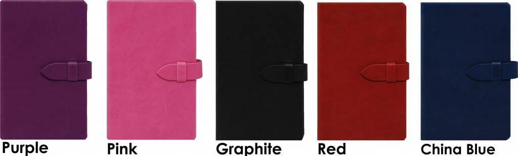 Personalised Notebooks called Mirabeau, colours available, from The Notebook Warehouse