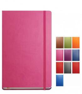 Image showing Tucson Flexible Branded Notebooks in a range of fantastic colours. Part of the Soft Cover Branded Notebooks range from The Notebook Warehouse