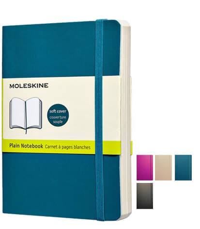 Moleskine Soft Cover Notebooks available from The Notebook Warehouse
