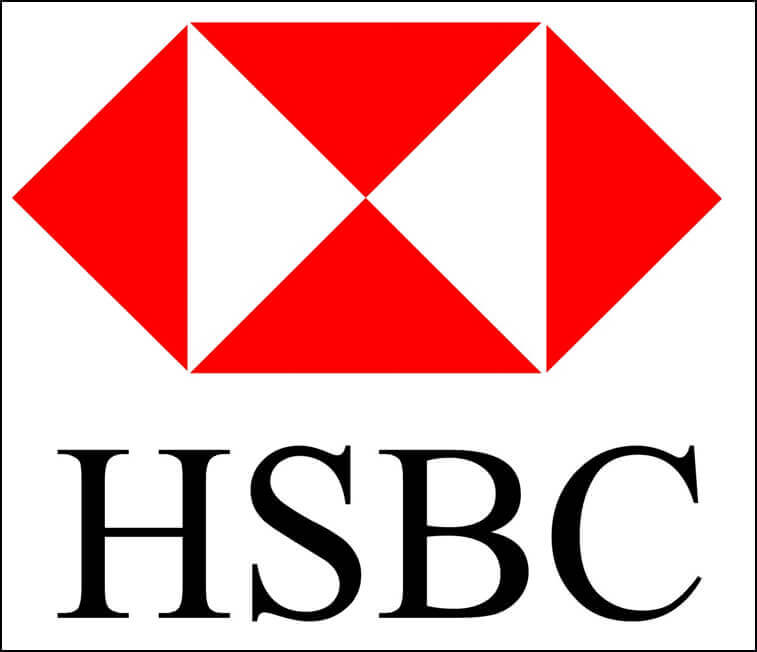 Image showing HSBC logo from The Notebook Warehouse. The leading supplier of Custom Notebooks
