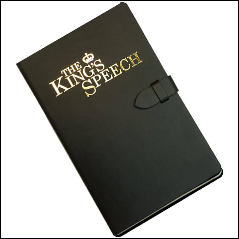 Image showing Company Branded Notebooks for King's Speech play starring Jason Donovan