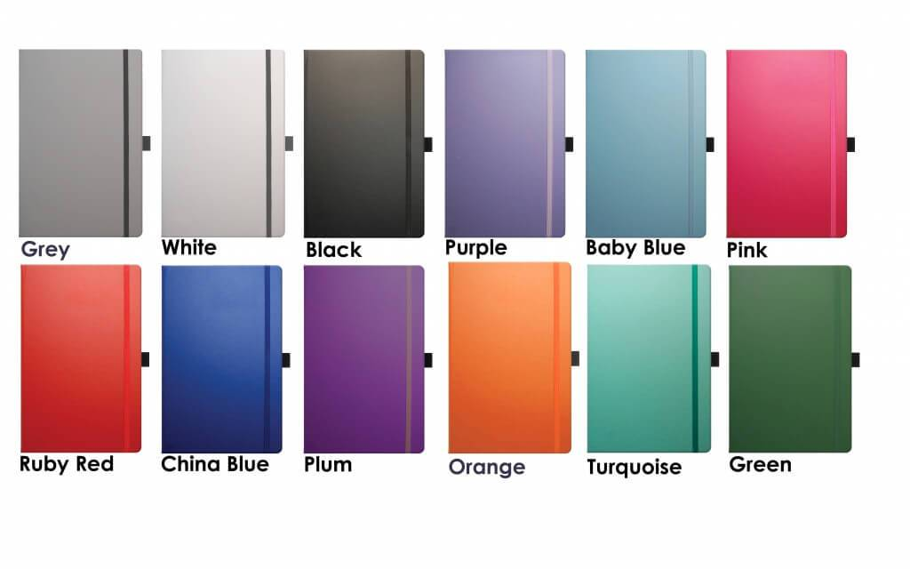 Colours for Corporate Diaries Branded