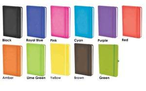 Mole Promotional Notebooks Colour Palette from The Notebook Warehouse