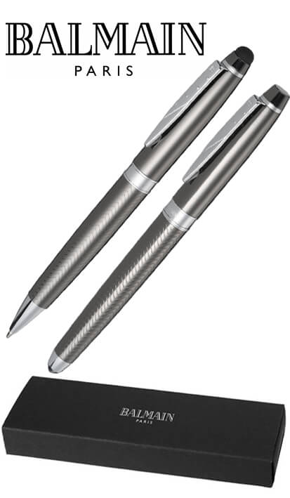 Designer Gift Set of Promotional Pens by Balmain from The Notebook Warehouse.