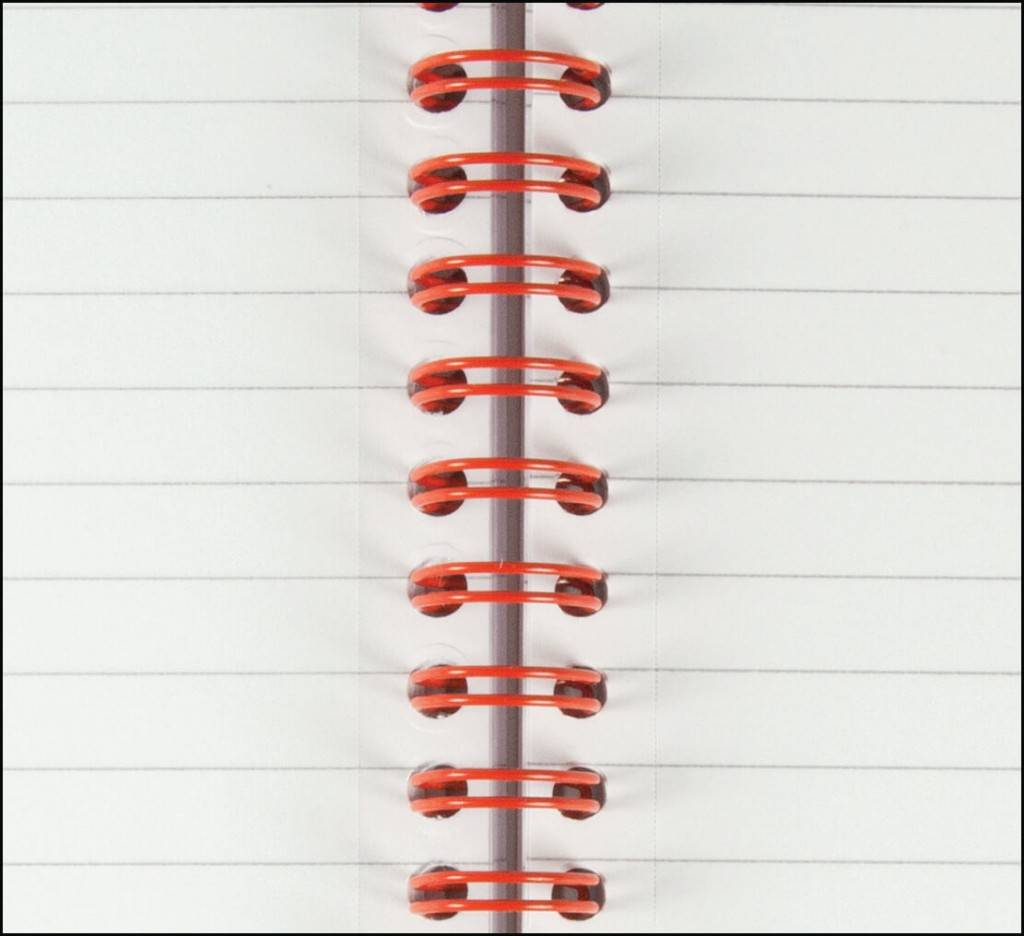 Perforated Pages on Black and Red Executive Wiro Branded Notebook