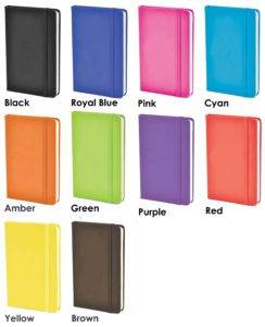Colours available for Mole Promotional Notebooks from The Notebook Warehouse