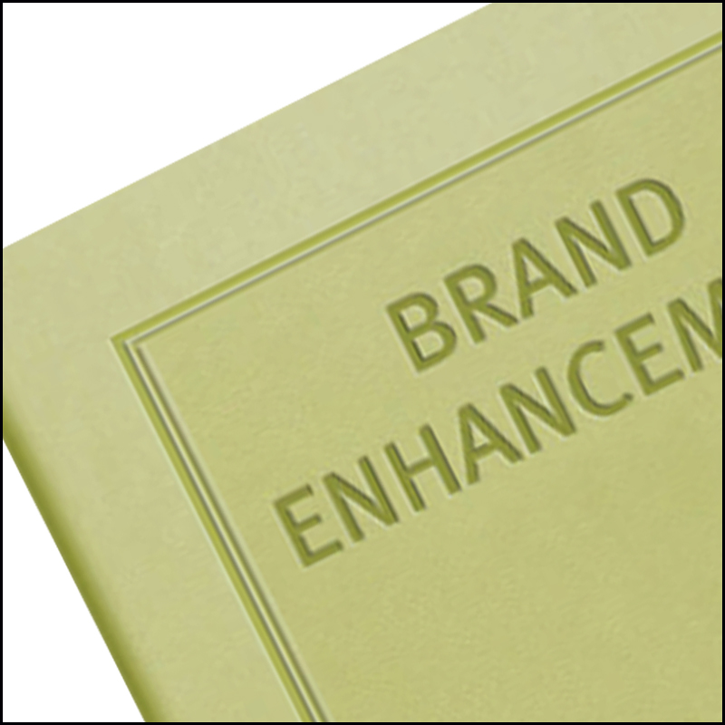 Image Showing Blind Embossing on a Company Branded Notebook