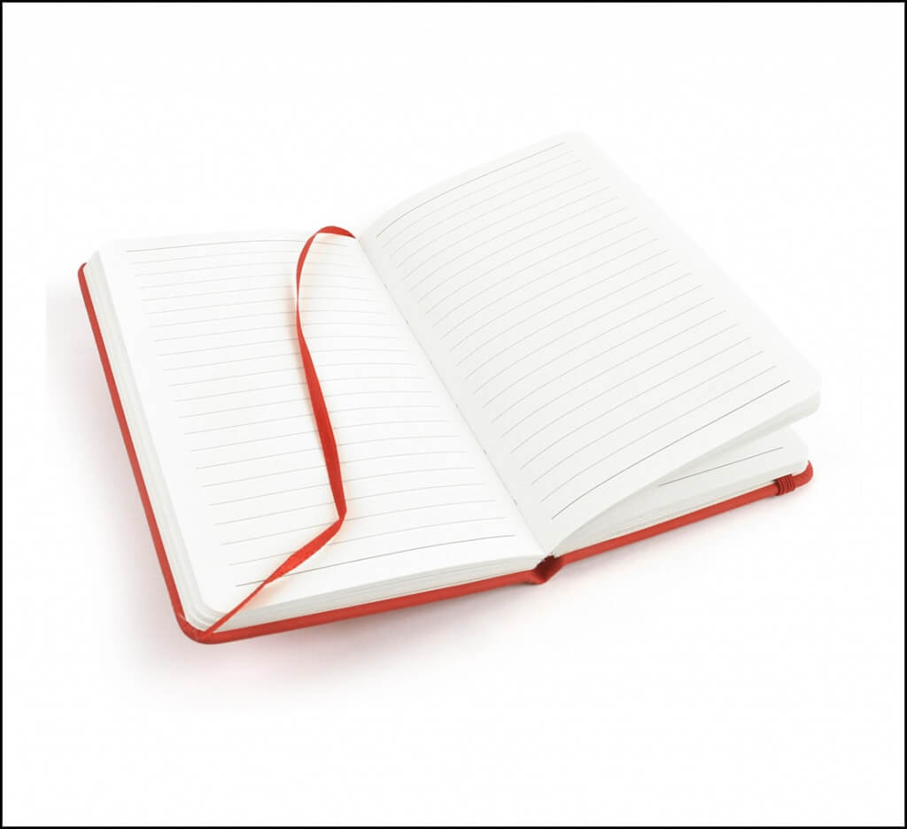 Mole Branded Notebooks in an A6 Format.