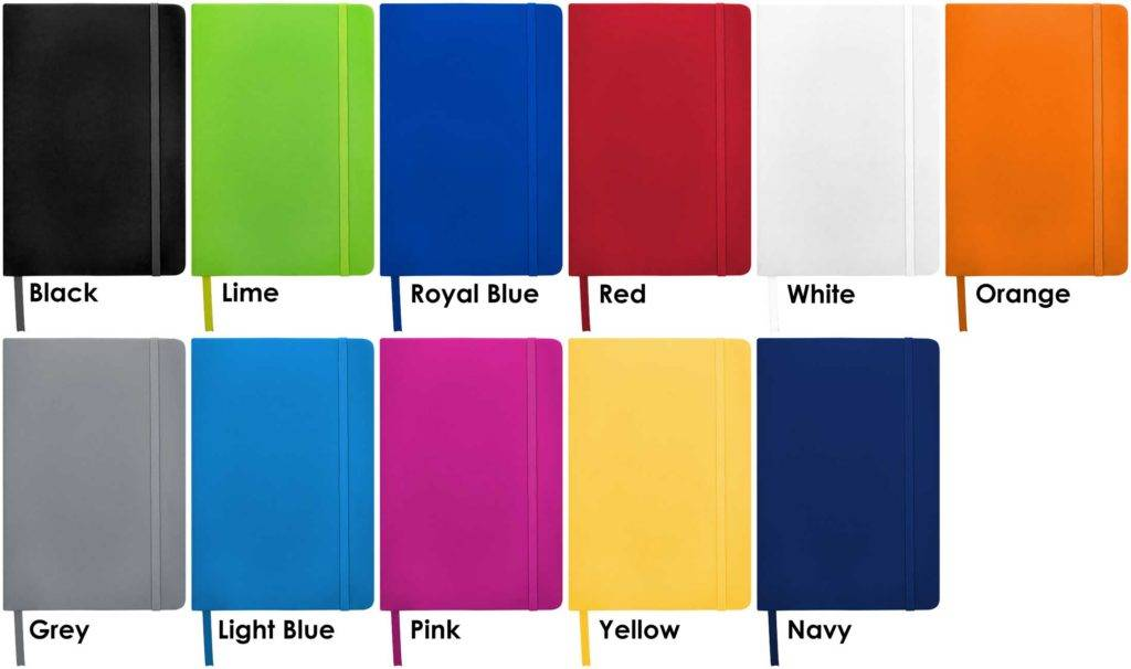 Colours available for Spectrum Custom Notebooks from The Notebook Warehouse