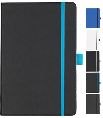 Group Image of Dartford A5 Contrast Branded Notebook with Recycled Paper from The Notebook Warehouse