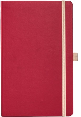 Image showing the Appeel Branded Eco Notebooks in Red