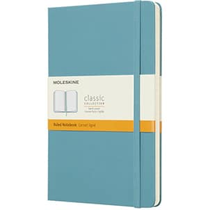 Image of Moleskine Hardback Company Branded Notebooks in Reef Blue from The Notebook Warehouse