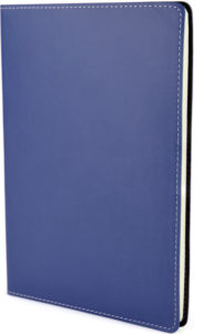 Image of Stitch Edge Flexible Branded Notebooks with Blue Cover, from The Notebook Warehouse