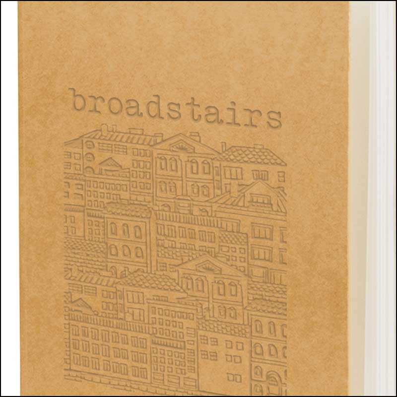 Blind Embossed logo on Broadstairs Eco Friendly Branded Notebooks