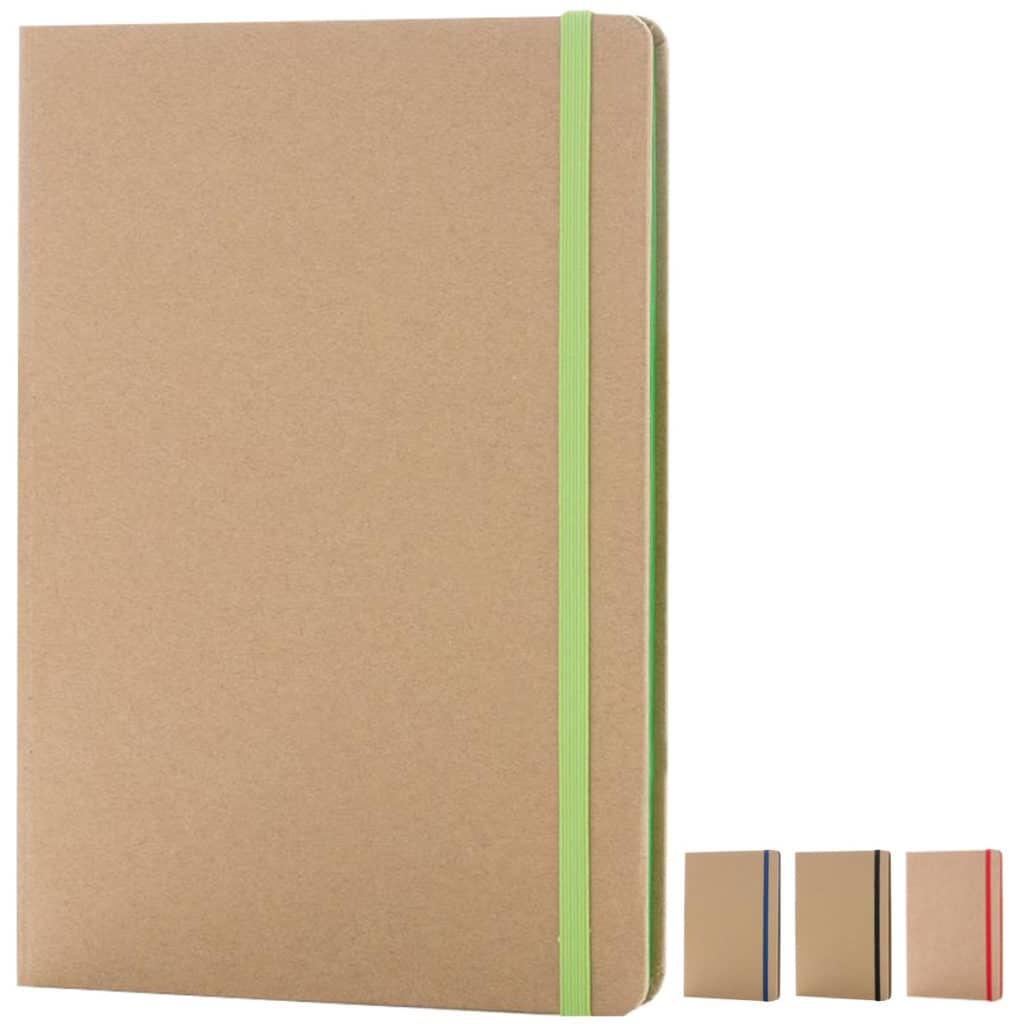 Image of the colours for Edge Contrast Recycled Branded Notebooks part of the Eco Branded Notebooks range from The Notebook Warehouse