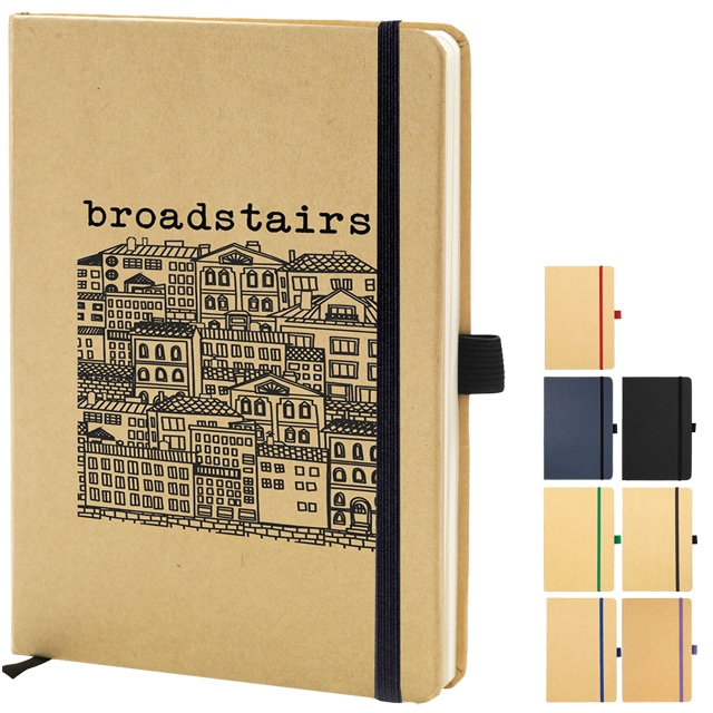 Broadstairs Eco Friendly branded notebooks